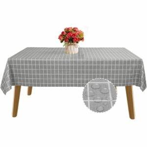 The Best Tablecloths Options: BEAUTYTREES Table Cloth Waterproof Oil-Proof