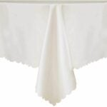 The Best Tablecloths Options: LUSHVIDA Rectangle Table Cloth – Washable Microfiber