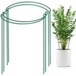 Best Tomato Cages Options: LEOBRO 4 Pack Plant Support Stake
