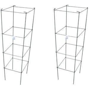 Best Tomato Cages Options: MTB Galvanized Square Folding Tomato Cage