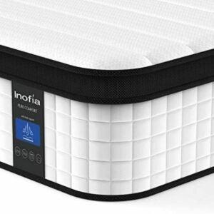 The Best Twin Mattress Option: Inofia Twin Mattress, 12 Inch Hybrid Innerspring