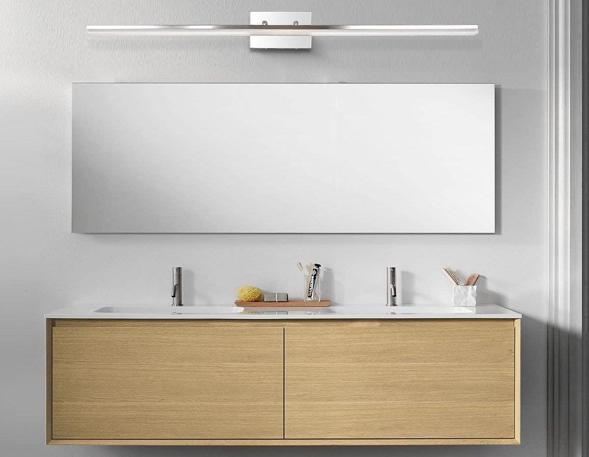 The Best Vanity Lighting Of 2021, Bathroom Lights Over Mirror Brushed Nickel