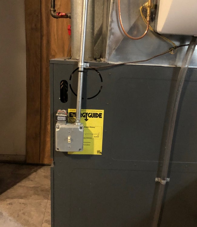 furnace not turning on check power switch