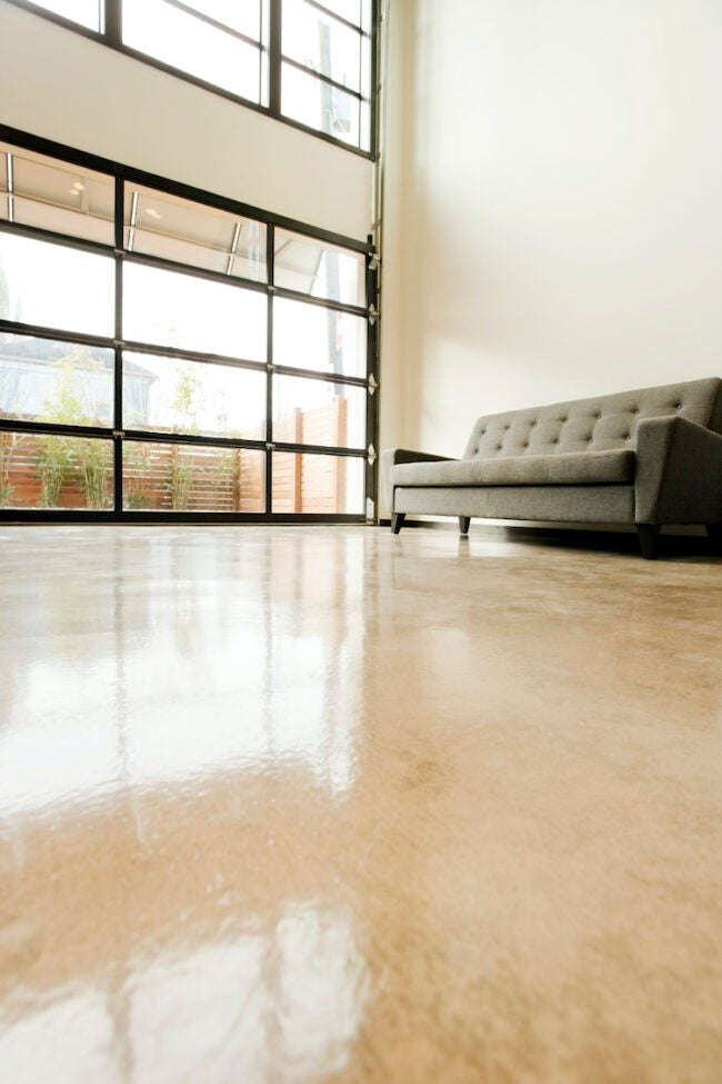 how to stain concrete floor