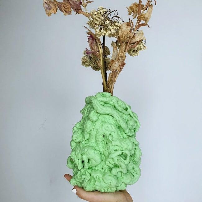 spray foam vase