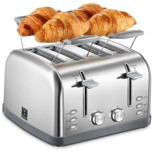 最好的4片烤面包机选择Yabano