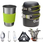The Best Backpacking Stove Options: Odoland Camping Cookware Stove Carabiner Set