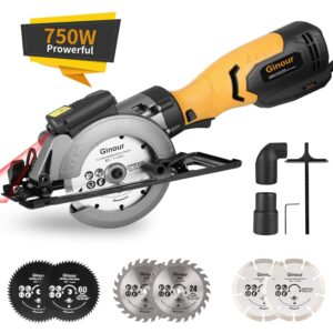 The Best Concrete Saw Options: Mini Circular Saw, Ginour 6.2A Small Power Saw