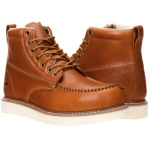 The Best Construction Boots Options: Golden Fox Work Boots 6 Men's Moc Toe Wedge Boot