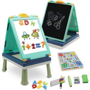 The Best Easel Options: QDH Art Easel for Kids, Double Sided Whiteboard