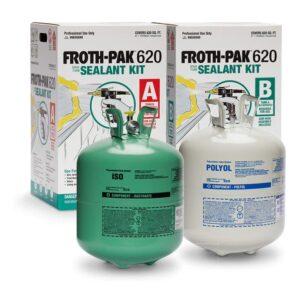 最佳膨胀泡沫选项:泡沫 -  PAK 620密封胶 -  2元件泡沫绝缘