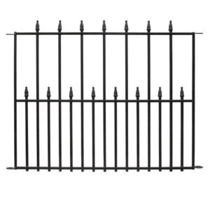 The Best Garden Fence Options: Vigoro Empire 30 in. x 36 in. Black Steel Fence
