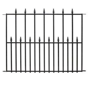最好的花园围栏选项:Vigoro帝国30英寸x 36英寸黑色钢板