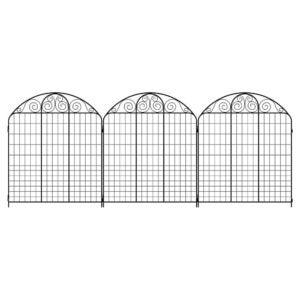 The Best Garden Fence Options: Vigoro Rockdale 43.8 in. Black Steel Fence Panel