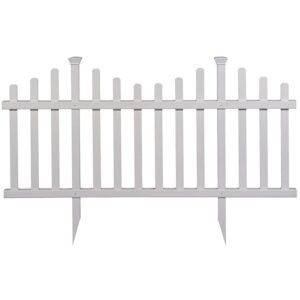 The Best Garden Fence Options: Zippity Outdoor Products ZP19001 Madison Vinyl