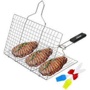 The Best Grill Basket Options: Overmont Stainless Steel Grill Basket