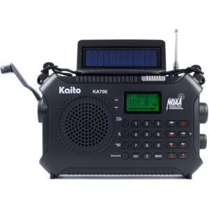 The Best Hand Crank Radio Options: Kaito KA700 Bluetooth Emergency Hand Crank Radio