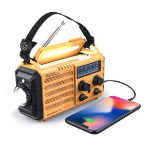 The Best Hand Crank Radio Options: Raynic Weather Radio 5000mAh Solar Hand Crank