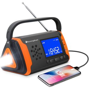 The Best Hand Crank Radio Options: RunningSnail Emergency NOAA Weather Crank Solar Radio