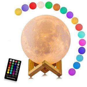 The Best Moon Lamp Options: Moon Lamp, LOGROTATE 16 Colors LED 3D Print
