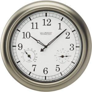 The Best Outdoor Options: Clock_La Crosse Technology WT-3181P Metal Clock, 18 Inch