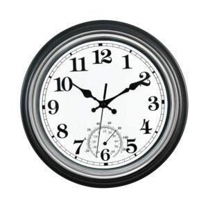 The Best Outdoor Clock Options: SMILEMARY 12-Inch Indoor_Outdoor Retro Wall Clock