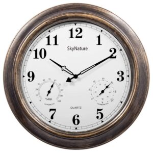 The Best Outdoor Clock Options: SkyNature Large Outdoor Clocks Thermometer Hygrometer