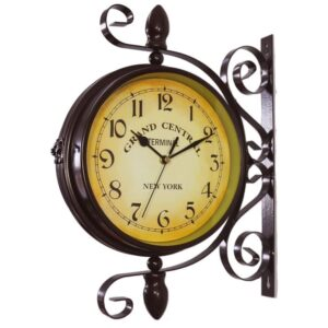 The Best Outdoor Clock Options: WOOCH Wrought Iron Antique-Look Round Wall Clock