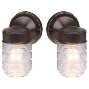 最佳室外壁灯选择:设计房子果冻罐经典室内外灯