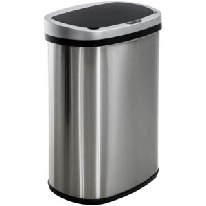 The Best Trash Can Options: BestOffice 13 Gallon_50 Liter Garbage Can Automatic