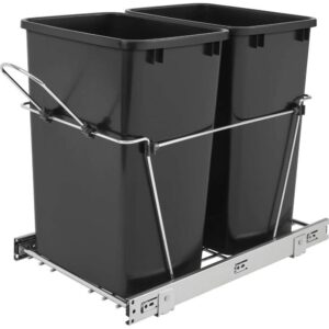 The Best Trash Can Options: Rev A Shelf RV-18KD-18C S Double 35 Quart Sliding