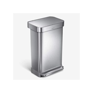 The Best Trash Can Options: simplehuman 45 Liter Rectangular Hands-Free Kitchen