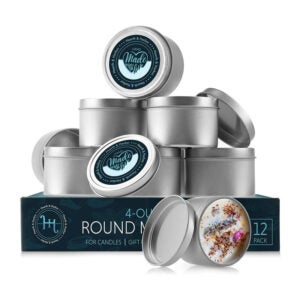 The Best Candle-Making Kit Option: Hearth & Harbor Tin Candle Jars 4 Oz