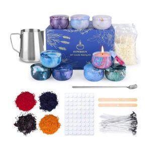 The Best Candle-Making Kit Option: SUPERSUN Scented Candles Making Supplies