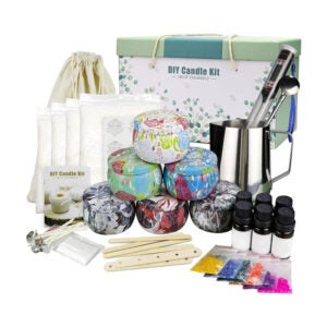 The Best Candle-Making Kit Option: YINUO LIGHT Candle Making Kit Beeswax Scented Candles