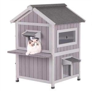 最佳猫庇护所选择:Aivituvin猫屋户外猫庇护所