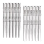 The Best Chopsticks Options: Hiware 12-Pairs Reusable Metal Chopsticks