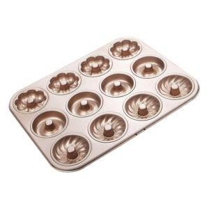 The Best Donut Pan Option: Webake Donut Pan 12 Cavity Fluted Flower Shape
