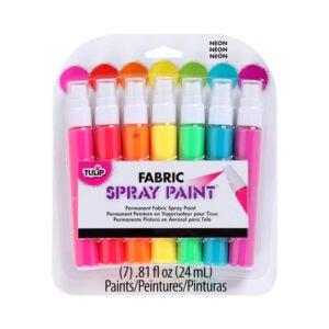 最佳织物喷漆选择:郁金香永久织物喷漆,Neonac
