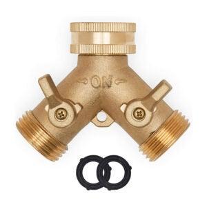 The Best Garden Hose Splitter Option: Morvat Heavy Duty Brass Garden Hose Splitter