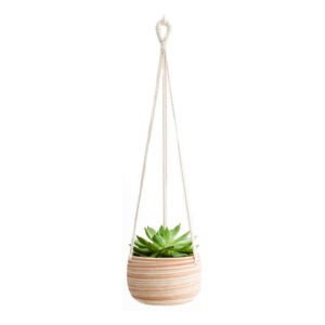 The Best Pots for Aloe Plants Option: Mkono 5-Inch Ceramic Hanging Planter with Rope Hanger