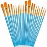 The Best Acrylic Paint Brushes Options: Soucolor Acrylic Paint Brushes Set, 20Pcs