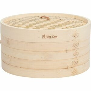 The Best Bamboo Steamer Options: Helen's Asian Kitchen Bamboo Food Steamer with Lid