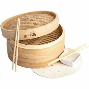 The Best Bamboo Steamer Options: Prime Home Direct 10 inch Bamboo Steamer Basket