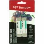 The Best Eraser Options: Tombow 67304 MONO Sand Eraser, 2-Pack. Silica Eraser