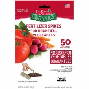 The Best Fertilizer For Peppers Options: Jobe's Organics Vegetable & Tomato Fertilizer Spikes