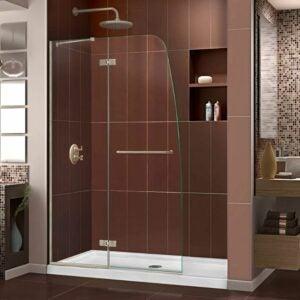 最佳无框淋浴门选择:梦幻水超无框铰链淋浴门