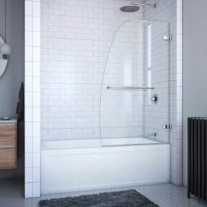 最好的无框淋浴门选项:Dreamline Aqua Uno 34英寸。W x 58 In。H无框