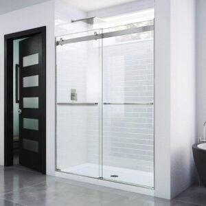 最好的无框淋浴门选择:Dreamline精华无框架滑淋浴门