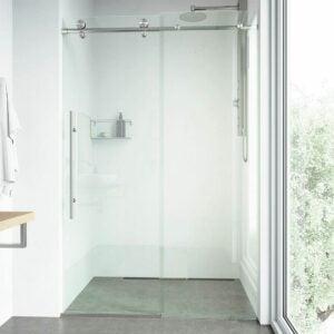 最好的无框淋浴门选项:Vigo无框滑动矩形淋浴门